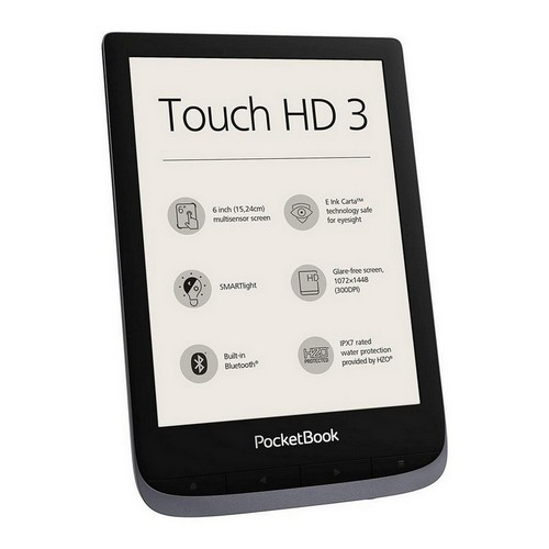 PocketBook e-Book Reader 'Touch HD 3' (16 GB di memoria; 15,24 cm (6 pollici) Grey