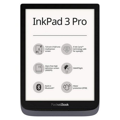 PocketBook, InkPad 3 Pro, reader e-Book, 16 GB di memoria, display da 7,8 pollici